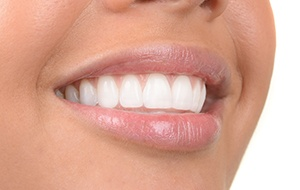 Closeup of evenly spaced teeth